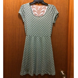 Doe & Rae Is That All You Dot Dress in Sage